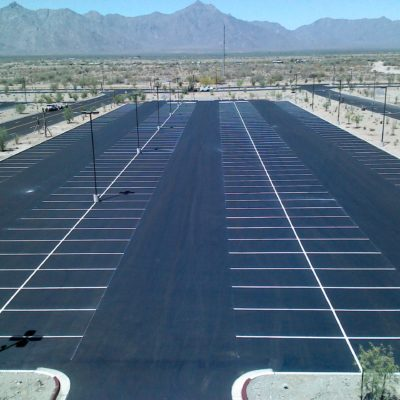 Vee Quiva Casino parking lot.  Look at those straight lines!!!