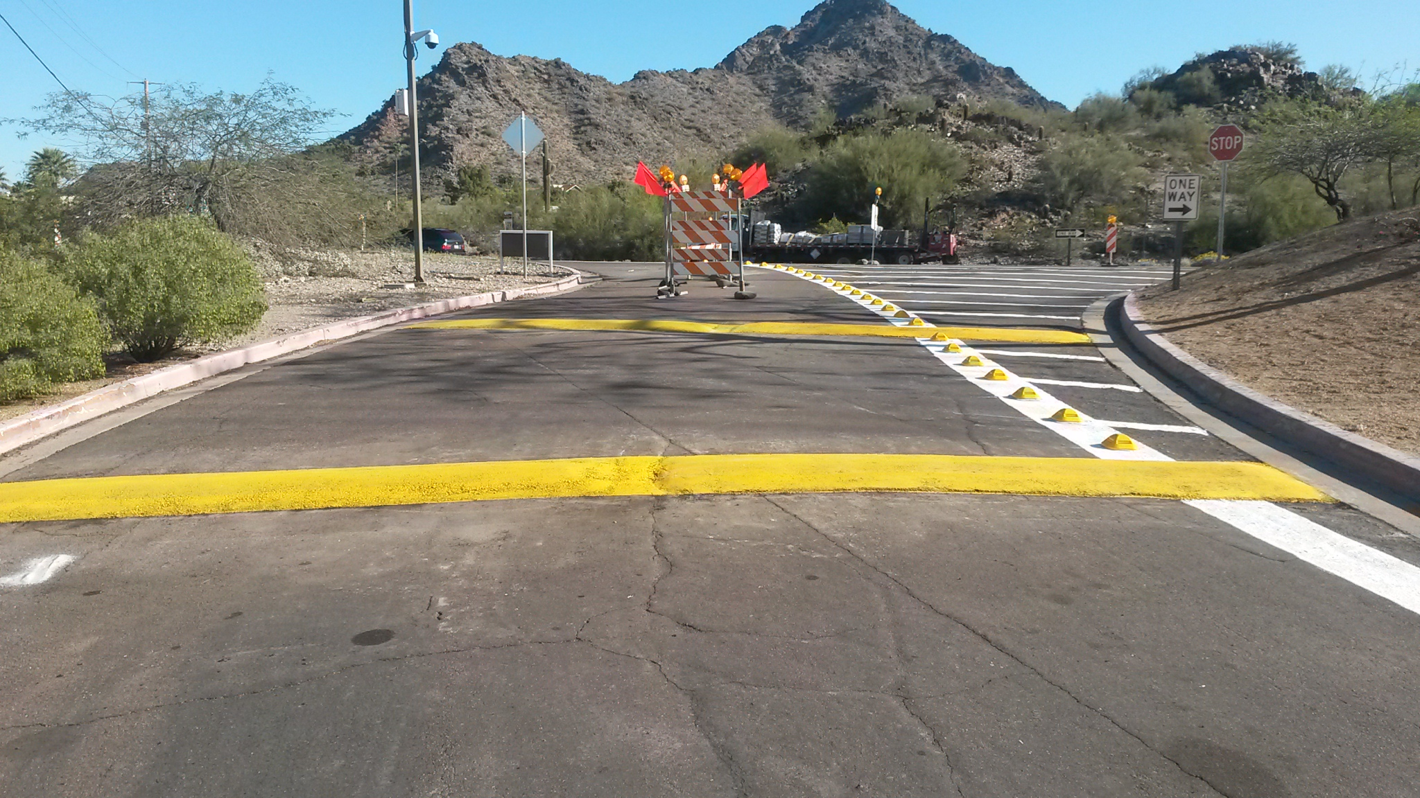 how to make a speed bump out of asphalt