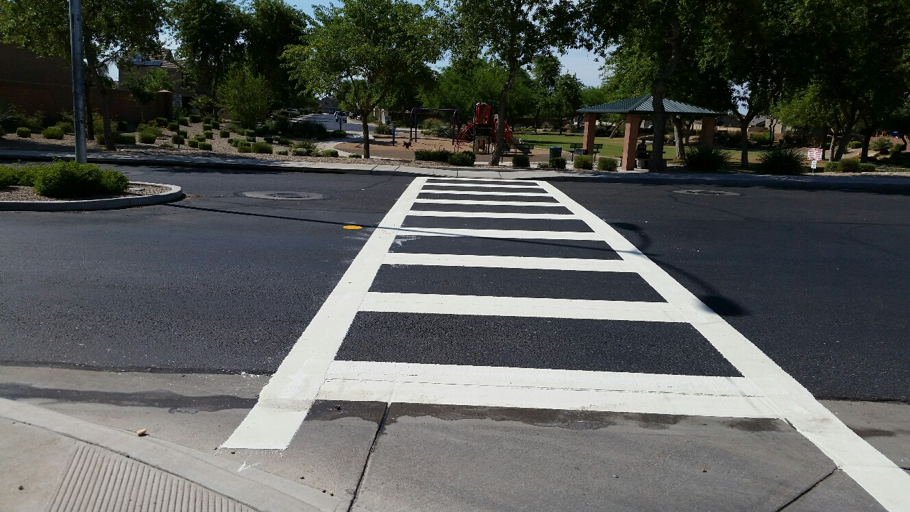 Specialty crosswalk - thermoplastic