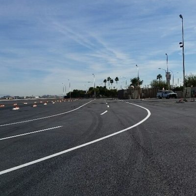 Access roadway striping